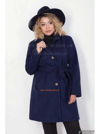 Стильное пальто женское с поясом большого размера