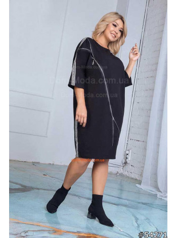"""Жіноче стильне плаття великого розміру на змійці """"Інга"""""""