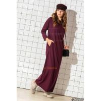 Модное трикотажное платье в пол