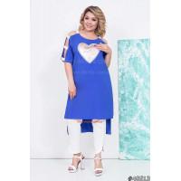 Жіноча модна туніка з принтом великого розміру