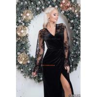 Модное бархатное платье на запах