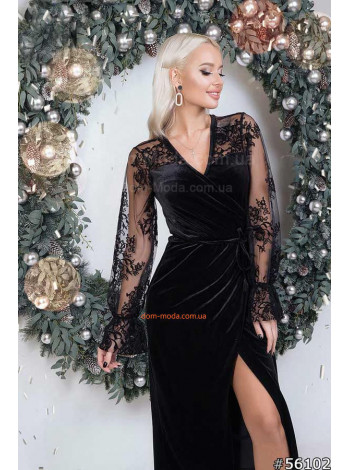Модне оксамитове плаття на запах