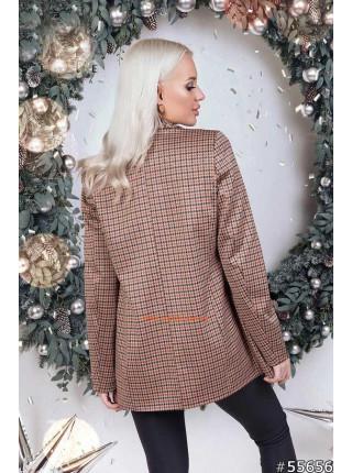 Женский пиджак в гусиную лапку