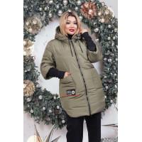 """Зимова модна жіноча куртка пуховик великого розміру """"Ханна"""""""