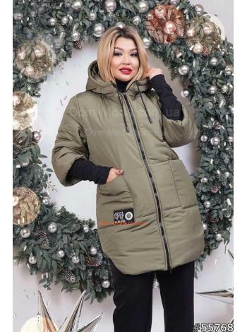 """Зимняя модная женская куртка пуховик большого размера """"Ханна"""""""