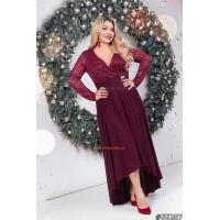 Жіноче максі плаття зі вставками з гіпюру великого розміру