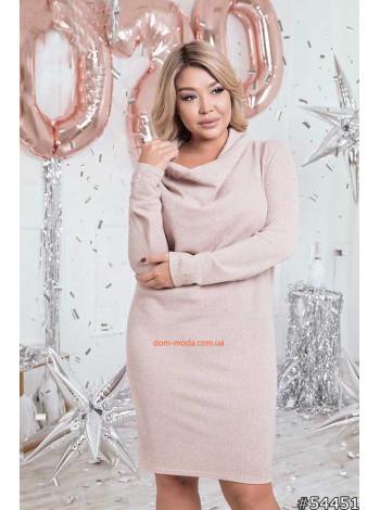 Жіноче світле плаття з рукавом великого розміру