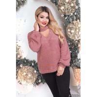 Женский батальный теплый свитер
