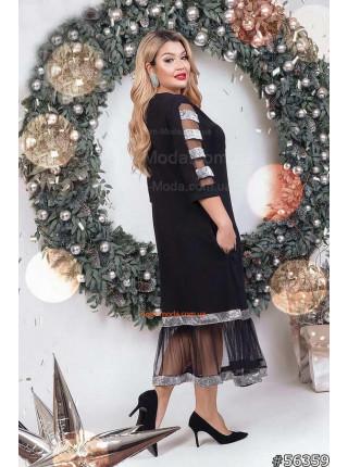 Чорне вечірнє плаття для повних