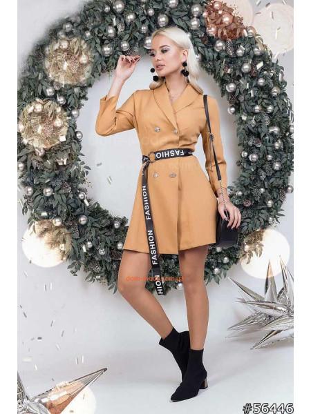 Платье пиджак с поясом
