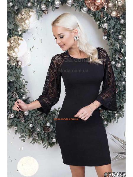 Плаття з гіпюровими рукавами