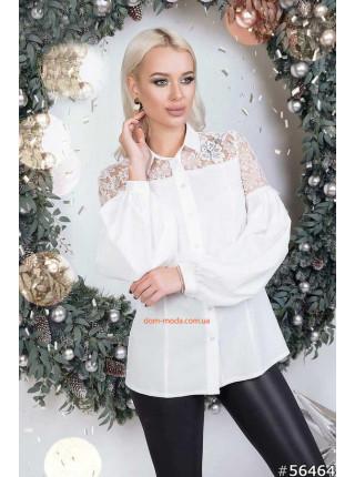 Жіноча блузка з мереживними вставками