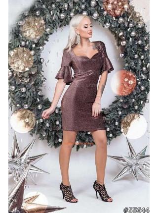 Вечірня сукня з люрексом