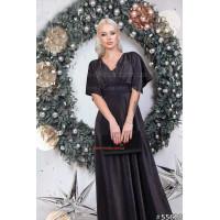 Длинное блестящее платье в пол