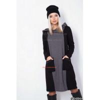Жіноча трикотажна сукня з кишенями