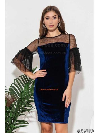 """Женское мини платье с коротким рукавом """"Шанель бархат"""""""