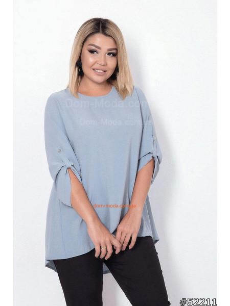 Женская блузка свободного кроя большого размера