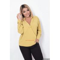 Женская шифоновая блузка большого размера с длинным рукавом
