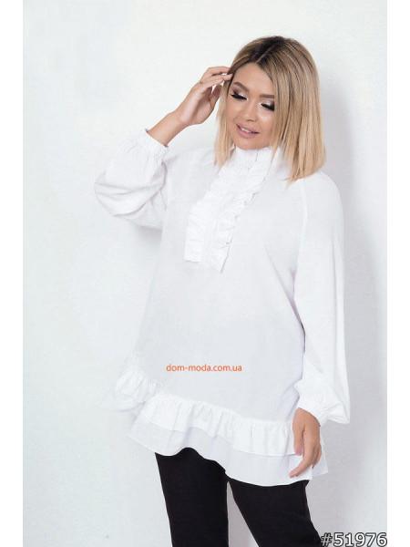 Свободная женская блузка на полную фигуру