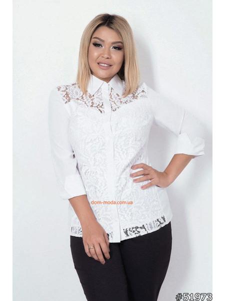 Нарядна блузка великого розміру