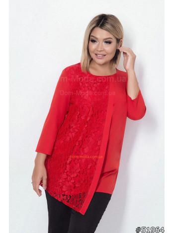 Женская нарядная блузка для полных