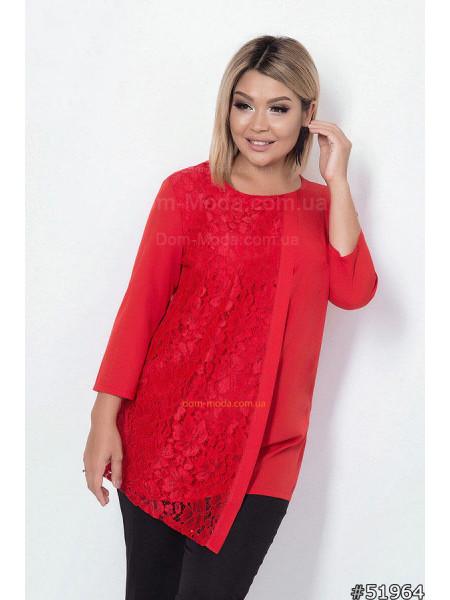 Жіноча нарядна блузка для повних