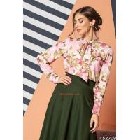 Жіноча модна рубашка в квіти