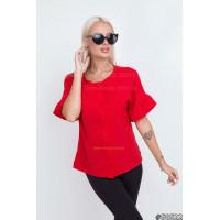 Жіноча червона блузка літня