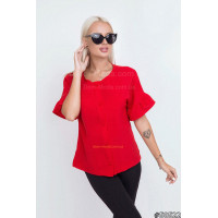 Женская красная блузка летняя