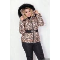 Женский теплый горнолыжный костюм большого размера
