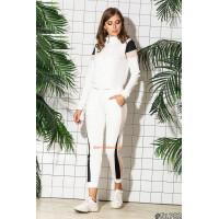 Спортивный костюм женский серый, белый, черный