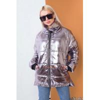 Жіноча куртка кольору металік