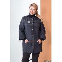 Весенняя женская куртка без воротника большого размера