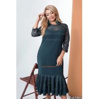 Нарядное женское платье с рукавом большого размера