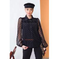 Нарядна жіноча блузка з сіткою