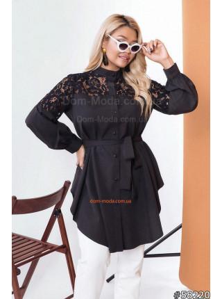 Жіноча подовжена блузка для повних