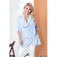 Женская блузка с запахом большого размера
