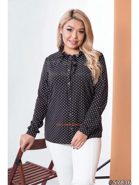 Женская блузка в горошек для полных