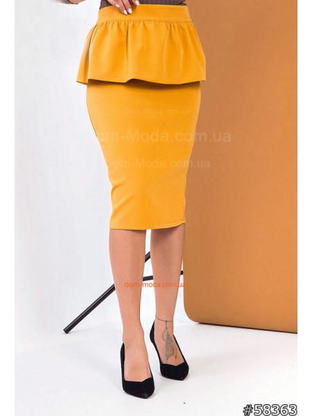 Женская юбка карандаш с баской