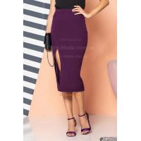 Женская юбка миди с высокой талией