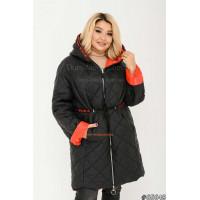 Демисезонная куртка женская двухсторонняя батал