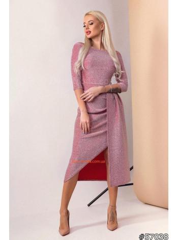 Женское шикарное платье с открытыми плечами