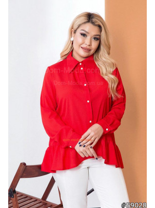 Красивая блузка с воланом большого размера
