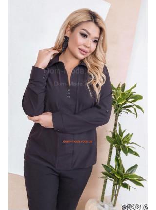 Офисная блузка большого размера