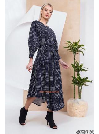 Красивое платье миди в горошек