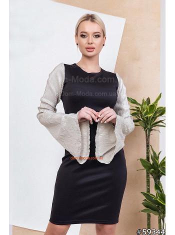 Модное платье женское с оригинальными рукавами