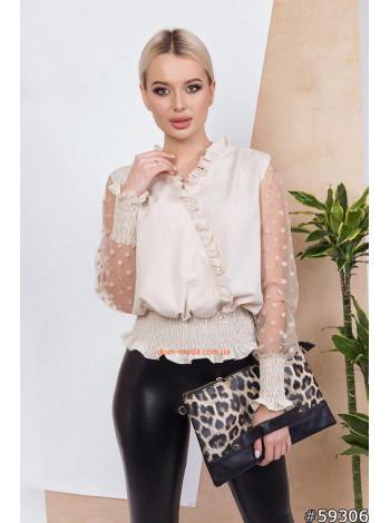 Жіноча блузка на резинці внизу