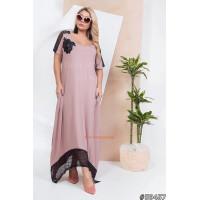 Трикотажное летнее платье в пол большого размера