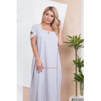 Жіноче стильне плаття з невеликим рукавчиком батального розміру
