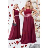 Женское летнее вечернее платье сарафан в пол с поясом